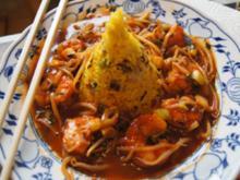 Szechuan-Garnelen mit Cashew-Reis - Rezept - Bild Nr. 2