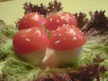 Rezept: Fliegenpilz-Eier