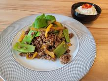Rindfleischpfanne mit grünen Bohnen - thailändisches Pad Krapao - Rezept - Bild Nr. 2