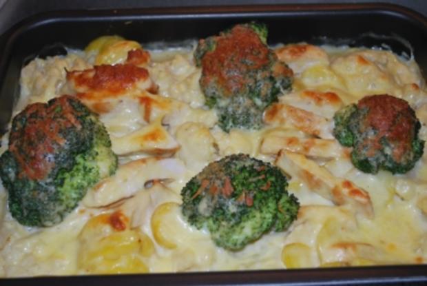 Blumenkohl-Broccoli-Auflauf mit Hähnchen - Rezept