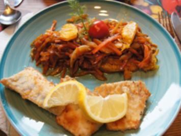 Fenchel-Möhren-Orangen-Gemüse und Zanderfilet - Rezept - Bild Nr. 2
