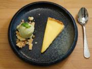Zitrone – Tarte, Basilikumeis und Streusel - Rezept - Bild Nr. 2
