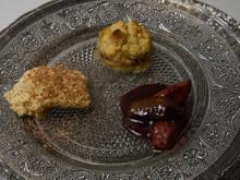 Zimtcreme mit frischen Feigen und einem gebrannten Apfel- Mandel Crumble - Rezept - Bild Nr. 2