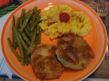 Kohlrabi-Schnitzel mit grünen Bohnen und herzhaften Kartoffelstampf - Rezept - Bild Nr. 2