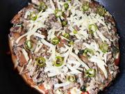 Pfannenpizza mit Tomaten und Pilzen - Rezept - Bild Nr. 2