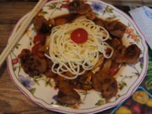 Ausgebackenes Schweinefilet mit Gemüse süß-sauer und Mie-Nudeln - Rezept - Bild Nr. 2