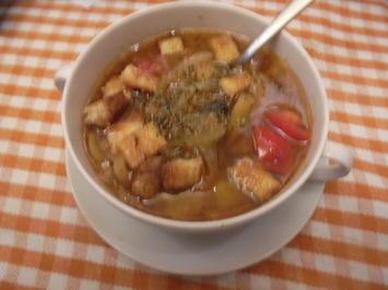 Zwiebelsuppe mit Croutons - Rezept - Bild Nr. 2