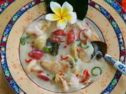 Koreanische Garnelensuppe mir Hühnerfleisch und Pilzen - Rezept - Bild Nr. 2
