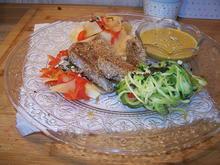 Sesam, Lendchen mit 3erlei Beilage + Currysoße - Rezept - Bild Nr. 13200