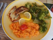 Zanderfilet mit grünen Bohnen + Brokkoli und Möhrenstampf - Rezept - Bild Nr. 2