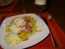 Sautierte Schweinebeine auf Karotten-Wirsing - Rezept - Bild Nr. 2