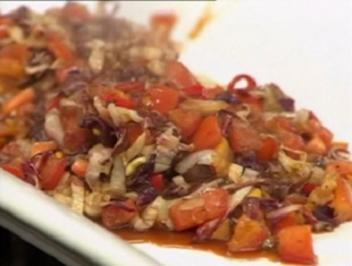 Tomaten-Radicchio-Soße - Rezept