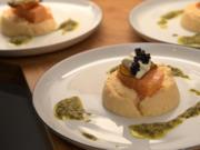 Lachsconfit auf Petersilienwurzelpüree und Kaviar - Rezept - Bild Nr. 2