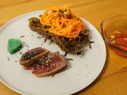 Crispy Papaya-Salat verführt Tuna Tataki - Rezept - Bild Nr. 2