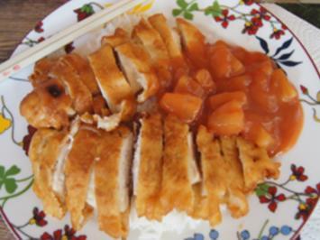 Gebackenes Hähnchenbrustfilet süß-sauer auf Basmatireis - Rezept - Bild Nr. 2