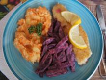 Seelachsfilet mit Rote-Bete-Salat und Möhren-Kartoffel-Stampf - Rezept - Bild Nr. 2