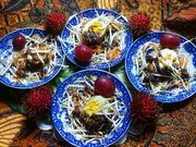 Thailändische Hochzeitsteller – Frittiertes Ei mit Früchten - Rezept - Bild Nr. 2