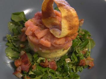 Cheesecake auf Salatbett - Rezept - Bild Nr. 3