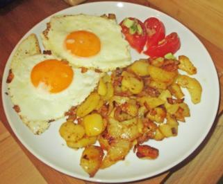 Frische Bratkartoffeln mit Spiegelei - Rezept - Bild Nr. 2