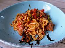 Bratwurst - Spaghetti - Pfanne - Rezept - Bild Nr. 2