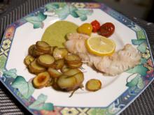Filet vom Rotbarsch mit Rosmarin-Kartoffeln und Rosmarin-Tomaten, dazu eine Dillsoße - Rezept - Bild Nr. 2