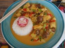 Asiatisches-Kabeljau-Curry mit Jasmin-Reis - Rezept - Bild Nr. 2