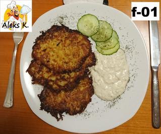 Weißrusslands Draniki, Kartoffelpuffer mit Quark dipp nach Tsatsiki Art - Rezept - Bild Nr. 13643