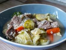 Graupen - Gemüsesuppe mit Fleischeinlage - Rezept - Bild Nr. 2