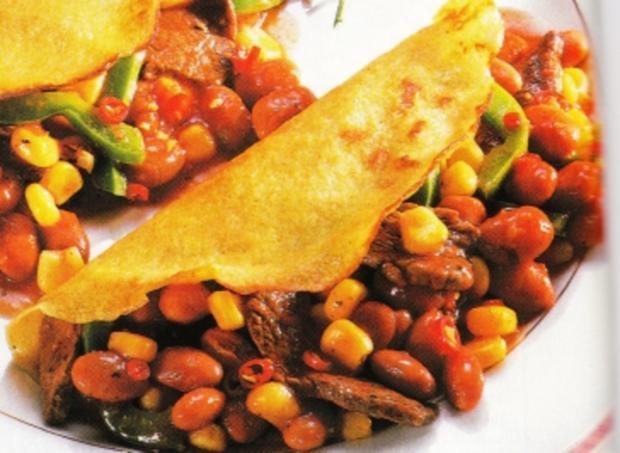 Pfannkuchen mit Chili con carne - Rezept