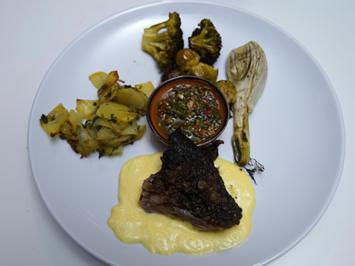 Koblenzer Lamm, Kartoffeln und Gemüse a la plancha - Rezept - Bild Nr. 2