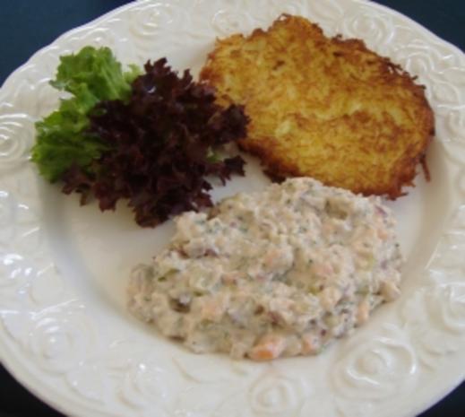 Matjes-Lachs-Tatar mit Gemüsesalat - Rezept