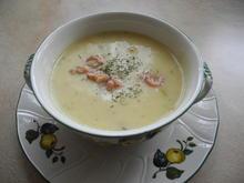 Kartoffelcremesuppe mit Krabben - Rezept - Bild Nr. 13707