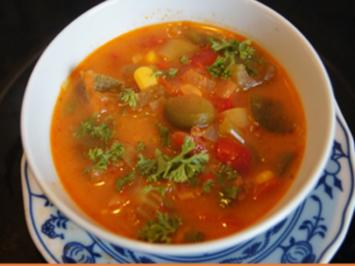 Herzhafte Gemüsesuppe mit Rinderhackfleisch - Rezept - Bild Nr. 13739