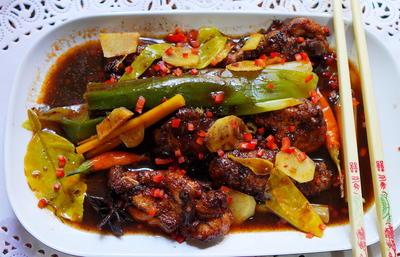 Scharfes Tamarinden-Chicken mit Frühlingszwiebeln - Rezept - Bild Nr. 13739