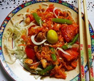 Veganer, balinesischer Papayasalat als Vorspeise - Rezept - Bild Nr. 13739