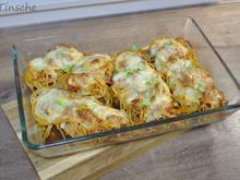 Schnelle Tomaten-Mozzarella-Pasta-Schnitzel - Rezept - Bild Nr. 13780