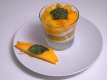 Quark-Dessert auf Pasta de Manga mit Pestosauce - Rezept - Bild Nr. 13776