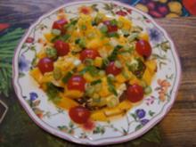 Vollkornbrot mit Rispentomaten und Mango - Rezept - Bild Nr. 2