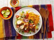 Mexikanischer Reis mit knusprigem Hähnchenfilet - Rezept - Bild Nr. 13779
