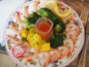 Garnelen mit süßer Chilisauce, Brokkoli und Petersilien-Kartoffeln - Rezept - Bild Nr. 2