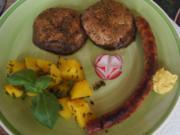 Fränkische Bratwurst mit Portobello und Petersilien-Kartoffeln - Rezept - Bild Nr. 2