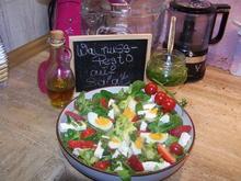 Salat kunterbunt , mit Walnuss-Petersilien Pesto - Rezept - Bild Nr. 13801