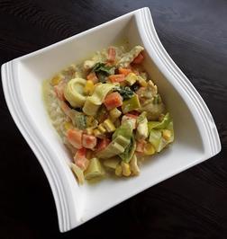 Hähnchen Gemüsepfanne in Curry Sahne - Rezept - Bild Nr. 13822