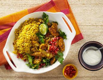 Butter-Chicken mit Curryreis - Rezept - Bild Nr. 13835