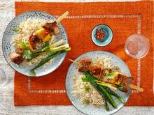 Spicy-Pork-Spieß mit Kokosreis - Rezept - Bild Nr. 13835