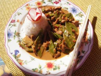 Putenbrust mit Zuckerschoten und Jasmin-Reis - Rezept - Bild Nr. 13870