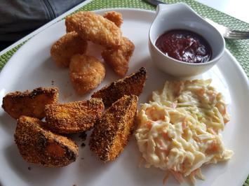 Chicken McNuggets, Coutry Potatoes und BBQ-Soße - Rezept - Bild Nr. 13902