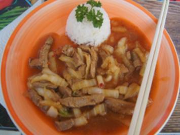 Schweinefilet mit Chinakohl und Jasmin-Reis - Rezept - Bild Nr. 2