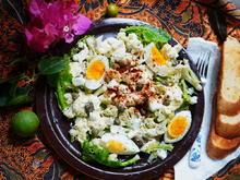 Blumenkohlsalat mit Ei und Lollo Bionda - Rezept - Bild Nr. 2