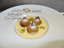 gebackene Apfel Knödel mit Zimt Zabaione - Rezept - Bild Nr. 2